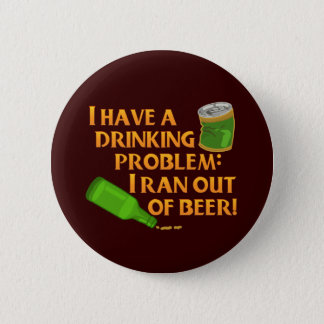 Funny Drinking Beer Button