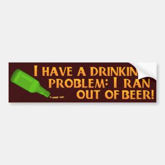 Funny Drinking Beer Car Bumper Sticker