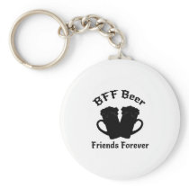Funny Drinking Beer Friends Forever - Drinker Keychain
