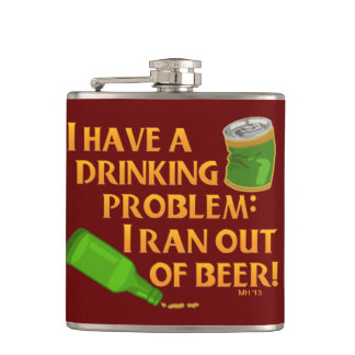 Funny Drinking Beer Hip Flask