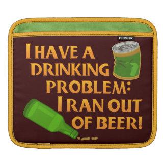 Funny Drinking Beer iPad Sleeves