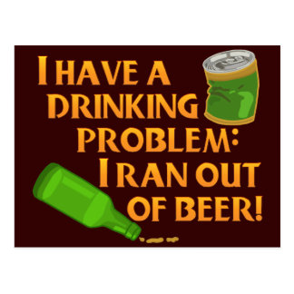 Funny Drinking Beer Postcard