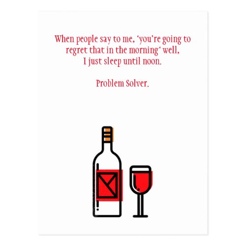 Funny Drinking Hangover Postcard