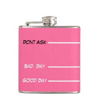 funny drinking measures hip flask pink