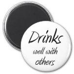 Funny drinking quotes joke novelty fridge magnets