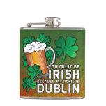 Funny Drinking St Patricks Day Pick Up Line Joke Flask