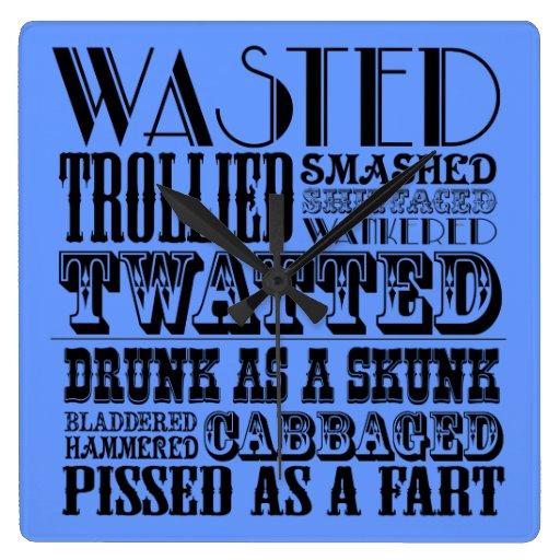 Funny drinking wallclocks