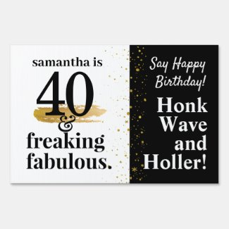 Funny Drive By Quarantine Birthday Custom Yard Sign