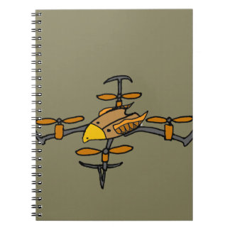 Funny Drone Flying Eagle Art Notebook