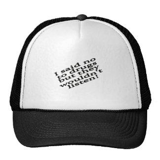 Funny drug trucker hat