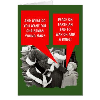 Funny drugs Christmas Card