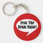 Funny Drum Major Basic Round Button Keychain