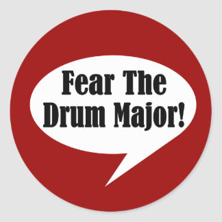 Funny Drum Major Classic Round Sticker