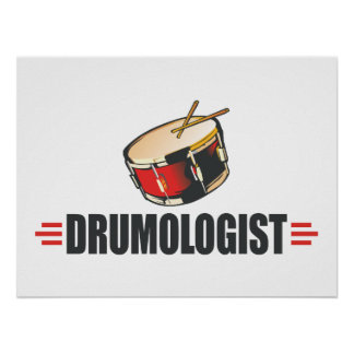 Funny Drum Poster