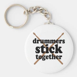 Funny Drummer Basic Round Button Keychain
