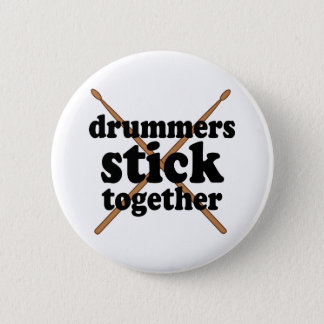 Funny Drummer Button