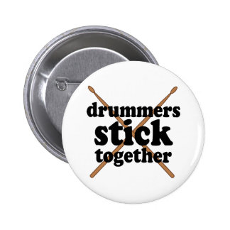 Funny Drummer Pinback Buttons