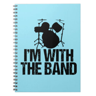 Funny Drummer I'm With the Band Notebook