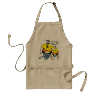 Funny Drunk Father Son Apron