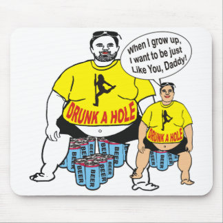 Funny Drunk Father & Son Mousepad