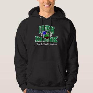 Funny Drunk Irish Black Hoodie