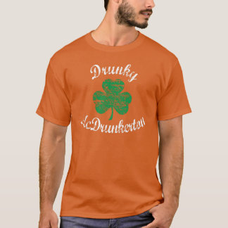Funny Drunky McDrunkerton St Patrick's Day T-shirt