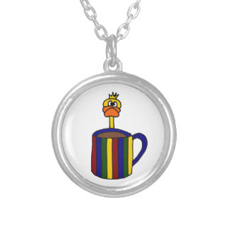 Funny Duck and Coffee Mug Necklaces