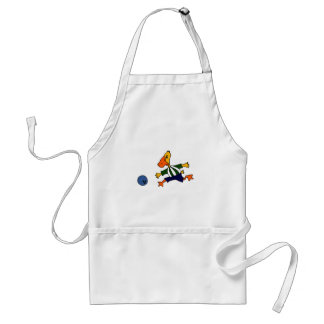 Funny Duck Bowling Cardtoon Aprons