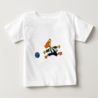 Funny Duck Bowling Cardtoon Baby T-Shirt