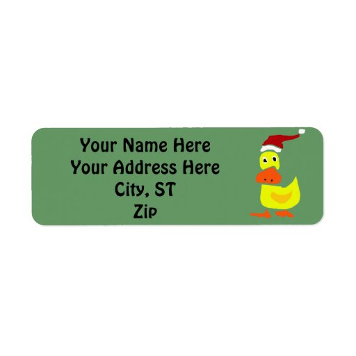 Funny Duck Christmas Gift Tags or Address Labels