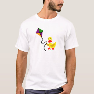 Funny Duck Flying Colorful Kite T-Shirt