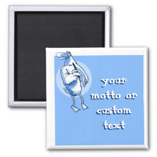 funny duck holds pencil cartoon customizable magnet