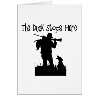 Funny Duck Hunters Gifts Card