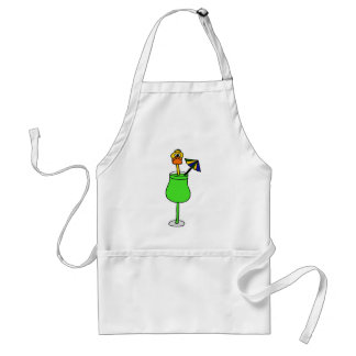 Funny Duck in Tropical Drink Aprons
