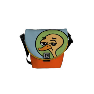 FUNNY DUCK MINI MESSENGER BAG
