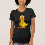 Funny Duck Playing Golf Primitive Art Dresses