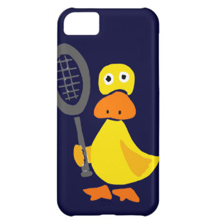 Funny Duck Playing Tennis Cartoon Case For iPhone 5C