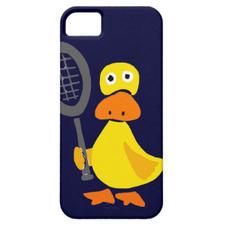 Funny Duck Playing Tennis Cartoon iPhone SE/5/5s Case