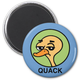 FUNNY DUCK ROUND MAGNET