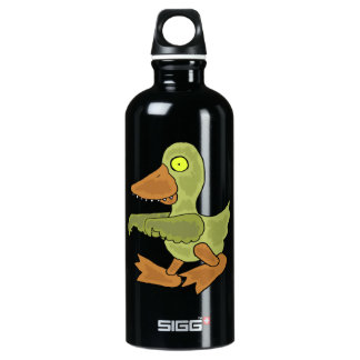 Funny Duck Zombie Cartoon Aluminum Water Bottle