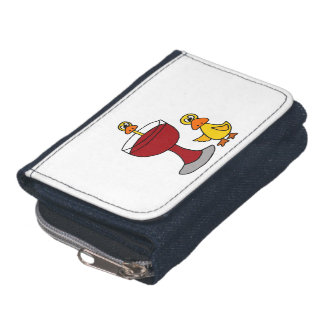 Funny Ducks and Red Wine Glass Wallet