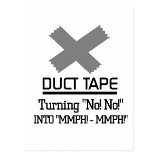 Funny Duct Tape Design Postcard