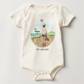 Funny Dude Rancher at the Beach Baby Bodysuit