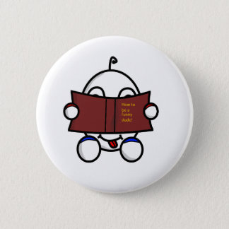 funny dude reading button
