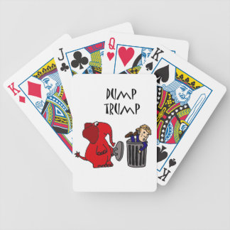 Funny Dump Trump Political Cartoon Art Bicycle Playing Cards