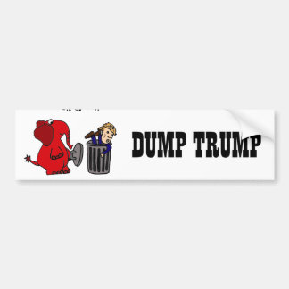 Funny Dump Trump Political Cartoon Art Bumper Sticker