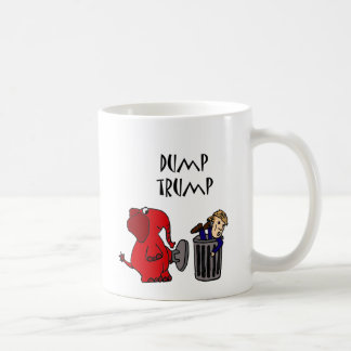 Funny Dump Trump Political Cartoon Art Coffee Mug
