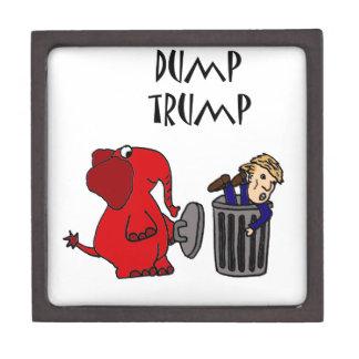 Funny Dump Trump Political Cartoon Art Gift Box