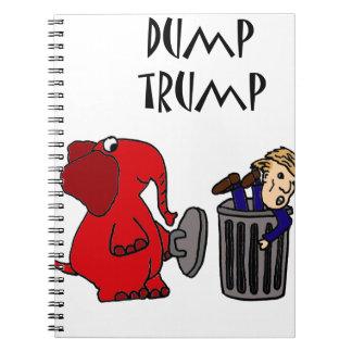 Funny Dump Trump Political Cartoon Art Notebook