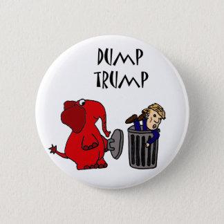 Funny Dump Trump Political Cartoon Art Pinback Button